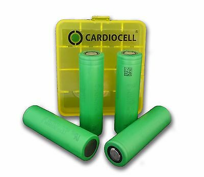 4x Sony US18650VTC5A Lithium Ionen 18650 35A 2600mAh inkl. Cardiocell Box