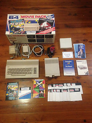 Commodore 64 Movie Pack, 1541-II Disk Drive, Joystick, 20+ Games