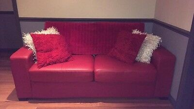 Leather Couch Sofa Bed