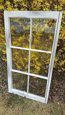 VINTAGE SASH ANTIQUE WOOD WINDOW FRAME PINTEREST 6 PANE 32x19 DISTRESSED RUSTIC