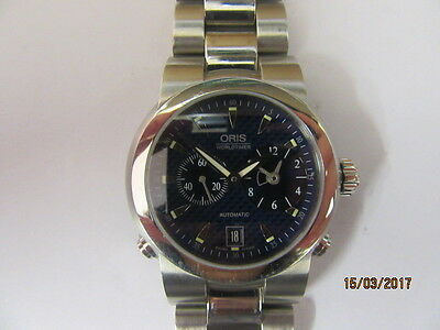 Oris 7527 TT1 World Timer Automatic Wrist Watch In Working Order