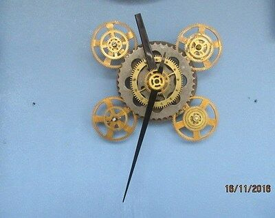 """Upcycled Steam Punk Quartz Clock In Working Order 12"""" x 12"""""""