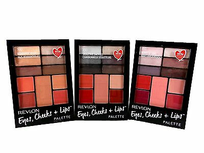Revlon Eyes Cheeks and Lips 11pc Shade Palette Kit Gift Set various