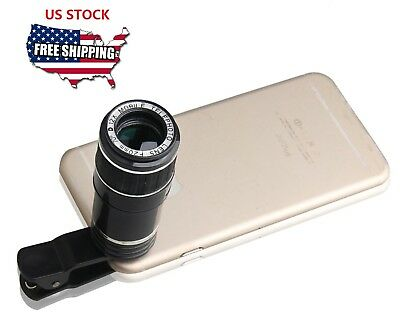 Clip-on 12x Optical Zoom HD Telescope Camera LensFor Universal Mobile iPhone8 X