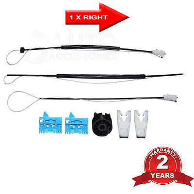 Front window regulator cable repair kit right vw new for 2000 vw beetle window regulator repair kit