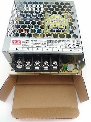 Mean Well LRS-35-12 3A 12V Switching Power Supply