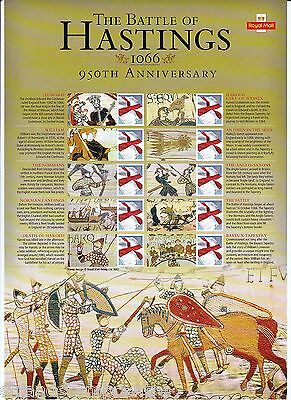 CSS-033 - The Battle of Hastings 950th Anniversary Commemorative Stamp Sheet