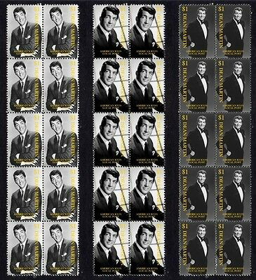 Dean Martin American Great Set Of 3 Mint Stamp Strips 1
