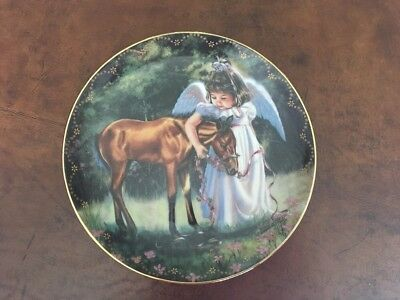 Heaven's Little Sweethearts AN ANGEL'S FRIENDSHIP Plate by Donna Brooks #8 Horse