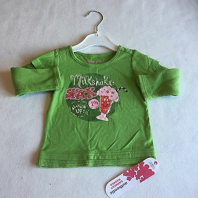 Baby Girls Clothes 6-9  Months - Pretty M&S T Shirt Top - New