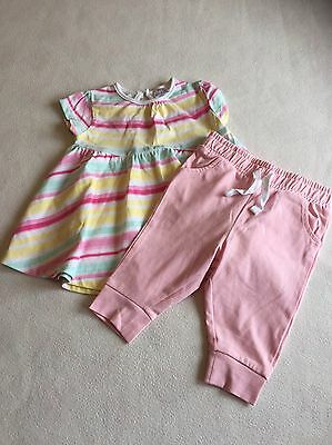 Baby Girls Clothes 0-3 Months- Cute Outfit - Dress & Joggers - New