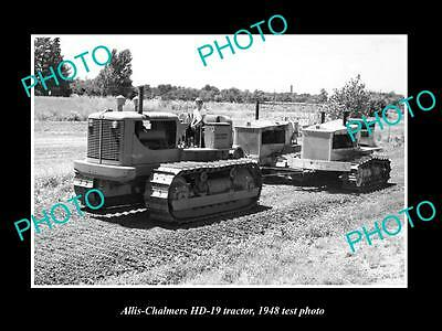 Old Large Historic Photo Of Allis Chalmers Hd-19 Crawl Tractor 1948 Test Photo 3