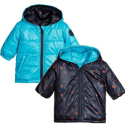 Kenzo Kids Baby Blue Reversible Padded Jacket 18 Months