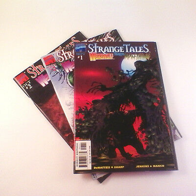 Strange Tales (1998) Complete Set of 3 (#1-2, #2 Var.) NM- Manco, Silver Surfer