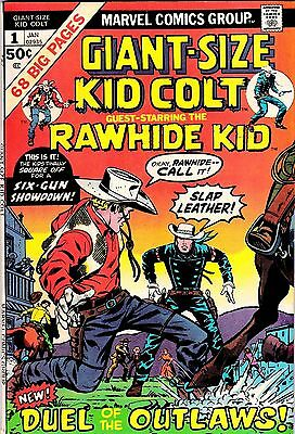 MARVEL COMICS KID COLT Giant Size  # 1 Jan 1975 Duel of Outlaws & Rawhide Kid