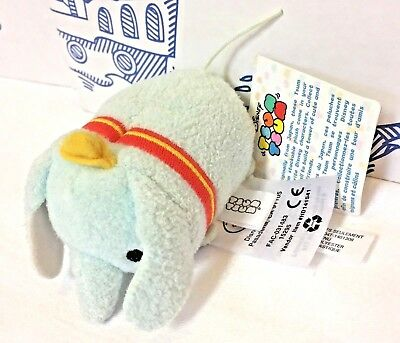 New Tsum Tsum Disney Baby Dumbo Plush Toy Mini 3.5 Elephant Hat Cheeks Movie NWT