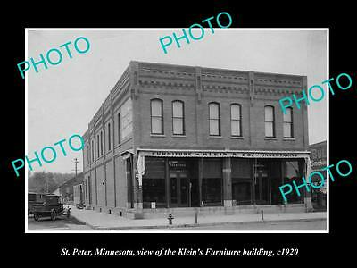 Old Large Historic Photo Of St Peter Minnesota The Seitzer Ford Garage C1930 Aud