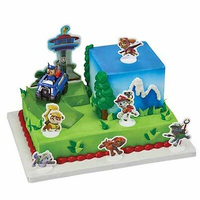 Paw Patrol 9 Piece Cake Decorating Kit Chase To The Rescue Ruff Marshall