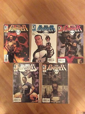 Marvel Knights Comics The Punisher Issues 1 - 5 Ennis Dillon Palmiotti