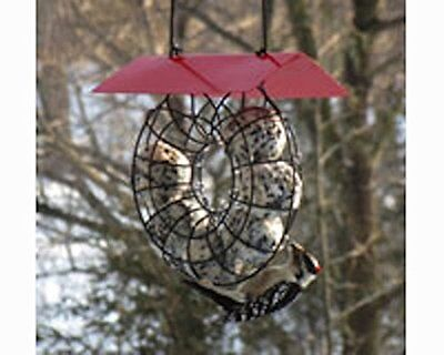 SUET & SEED BALL BIRD FEEDER with RED ROOF, Songbird Essentials Model SE908