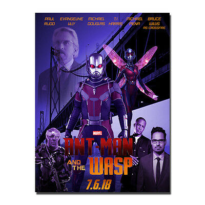 Ant-Man and the Wasp Superheroes Movie Silk Poster Art Prints 13x18 24x32 inches