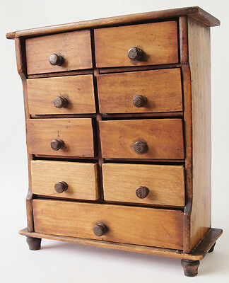 Edwardian Miniature Wooden Chest of Drawers, Apprentice Piece