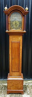 EXTREMELY  RARE - Early 18th C. Antique English Grandfather Longcase Clock