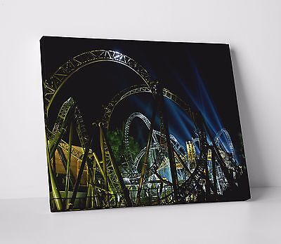 Alton Towers Castle Ruins at Scarefest Canvas Wall Art Picture Print A0 A1 A2