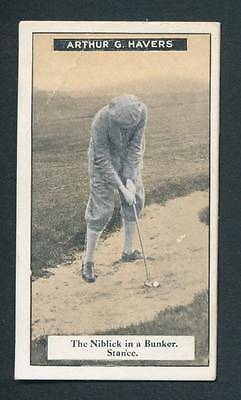 Imperial Tobacco Card 1925  Arthur G. Havers No.187 -How to Play Golf Series /50