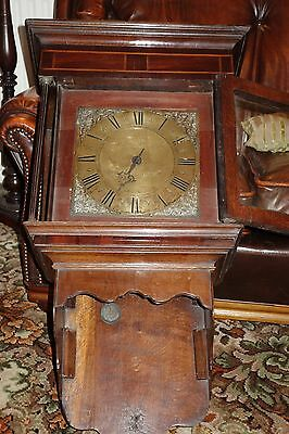 Antique 18th Century Hooded Wall Clock by William Peacock of Kimbolton
