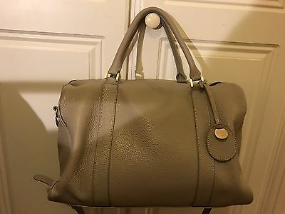 Pacapod Firenze Baby Changing Bag In Putty Leather