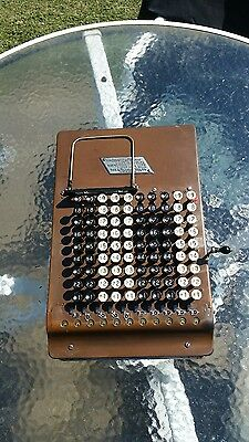 Vintage Antique 1914? Felt and Tarrant Comptometer Adding Machine WORKS GOOD