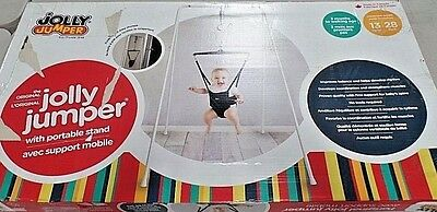 Infant Baby Black Original Jolly Jumper with Portable Stand New Damaged Box