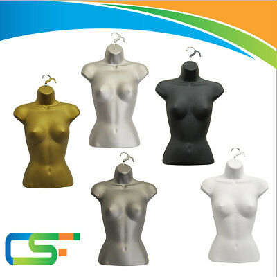 3x Clear Female Ladies Womens Hanging Plastic Body Form Display Mannequin PSBF