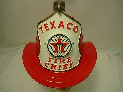 Vintage 60s Texaco Fire Chief Toy Hat Gas Station Helmet Untested