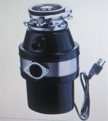 "1 HP Kitchen Garbage Disposal by YESCOM  2600 RPM Continuous Feed ""Very Quiet"""