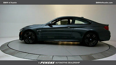 2018 BMW M4  New 2 dr Coupe Manual Gasoline 3.0L STRAIGHT 6 Cyl Mineral Gray Metallic