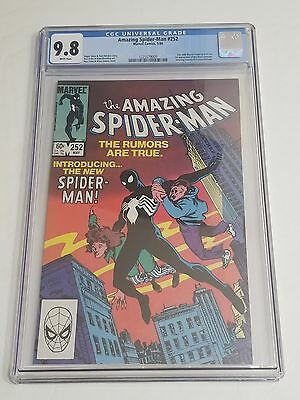 Amazing Spider-Man # 252 CGC 9.8 White pages 1st app of the Black Costume