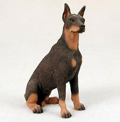 DOBERMAN PINSCHER (RED) DOG Figurine Statue Hand Painted Resin Gift Pet Lovers