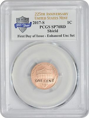 2017-S Enhanced Uncirculated Set Lincoln Cent SP70RD PCGS First Day of Issue Ann