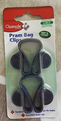 New Large Pram Bag Clips Clippasafe