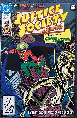 Justice Society of America #3 (DC, June 1991) Featuring Golden Age Green Lantern