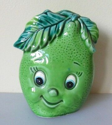 Enesco Anthropomorphic Happy Lime Fruit Napkin Letter Holder Mid Century