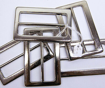 "2 X Belt Buckle Ladies Fashion SILVER METAL BUCKLE To Suit 3"" /75mm BELT RRP $10"