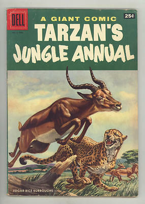 1956 TARZAN JUNGLE ANNUAL #5 100-page Dell Giant comic book. NICE
