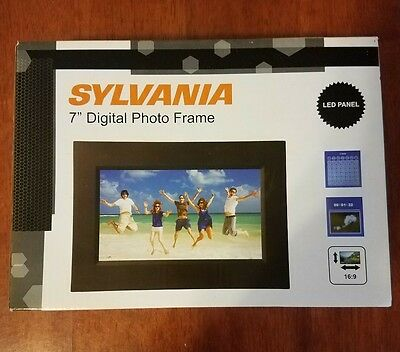"NIB/Never Opened 7"" Sylvania DIGITAL PHOTO FRAME-SDPF757 W/AC Adapter- Reduced!!"