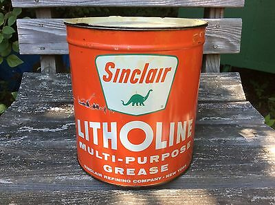SINCLAIR Litholine Dino 10 Pound Grease Can - Gas & Oil