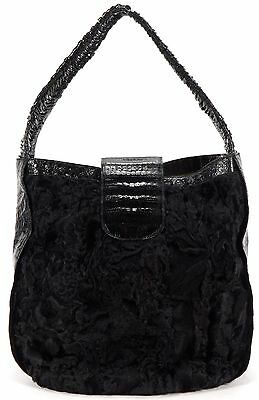 NANCY GONZALEZ Authentic Black Shoulder Bag Hobo Bag
