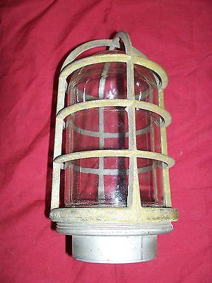 Vintage Industrial Light Lighting Vapor Explosion Proof Killark VAG-200 Fixture
