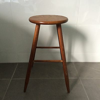 Wood Timber Vintage Farmhouse French Country Rustic Milking Stool Side Table